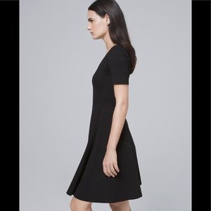 WHBM Knot Front Fit & Flare Dress